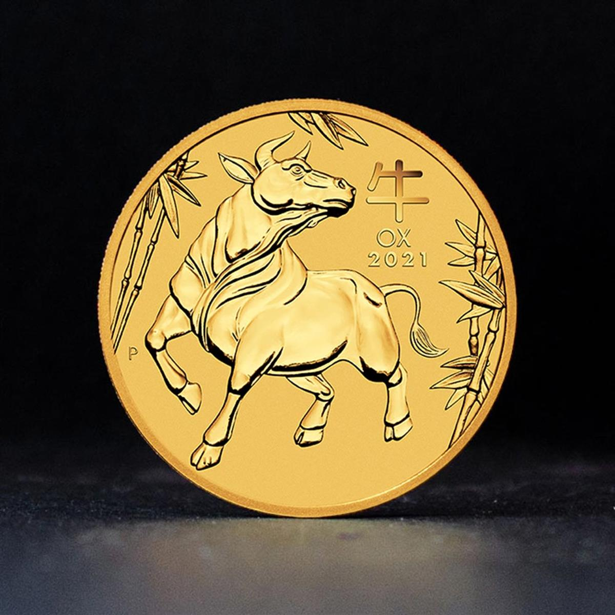 1/20oz Gold Coin 2021 Year of the Ox - Perth Mint