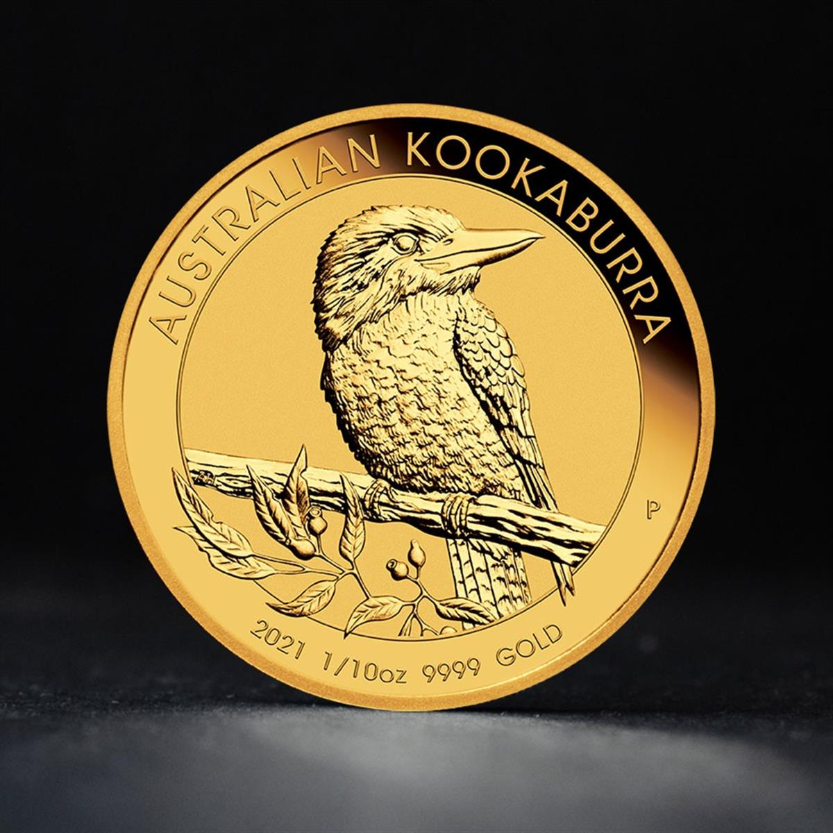 1/10 oz Gold Coin 2021 Kookaburra - Perth Mint