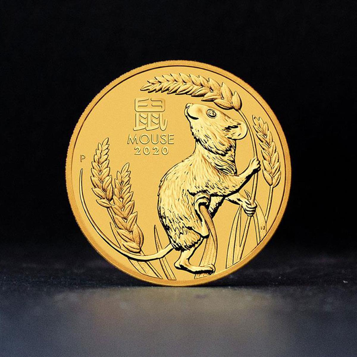 1/4oz Gold Coin 2020 Year of the Mouse - Perth Mint