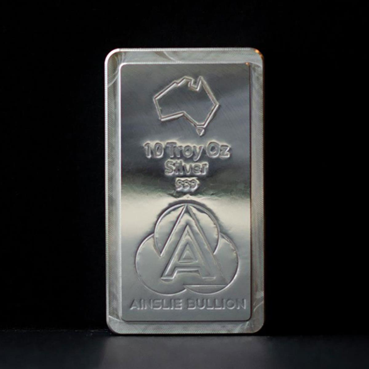 10oz Ainslie Silver Stacker Bar