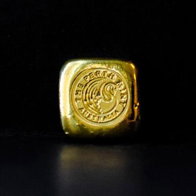 1oz Perth Mint Gold Cast Bar