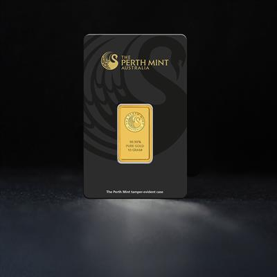 10g Minted Gold Bar Perth Mint