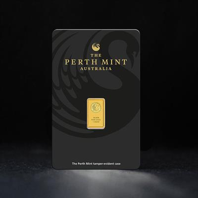 1g minted gold bar Perth Mint
