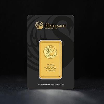 1oz Minted Gold Bar Perth Mint