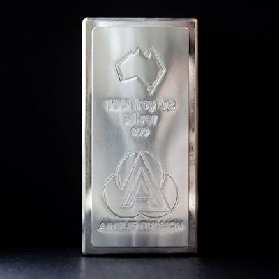 100oz Ainslie Silver Stacker Bar