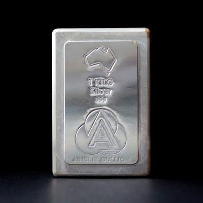 1kg Ainslie Silver Stacker Bar