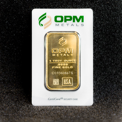 1oz Gold Bullion Minted Bar  OPM