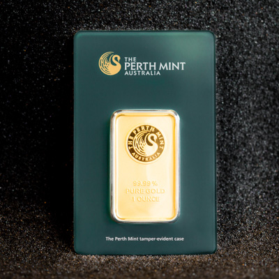 1oz Minted Gold Bar Perth Mint Ainslie Bullion