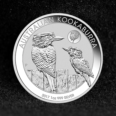 1oz Silver Coin 2017 Kooka w Rooster Privy Perth Mint