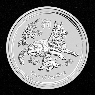 20x 1oz Silver Coin 2018 Year of the Dog - Perth Mint