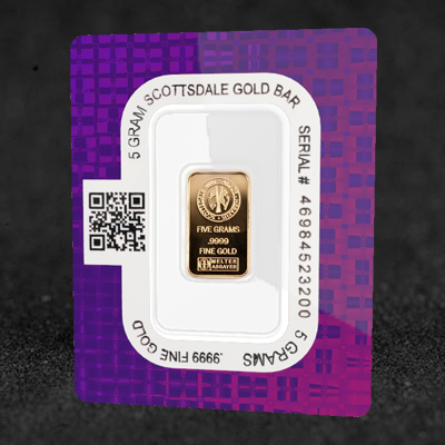 5g Scottsdale Mint Certi-Lock minted gold bar