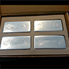 4x 100oz Silver Polished Bars - Perth Mint